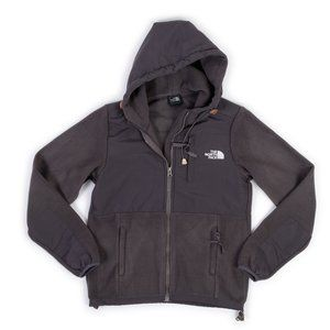The North Face youth grey fleece zip up hooded jacket size M (10-12)